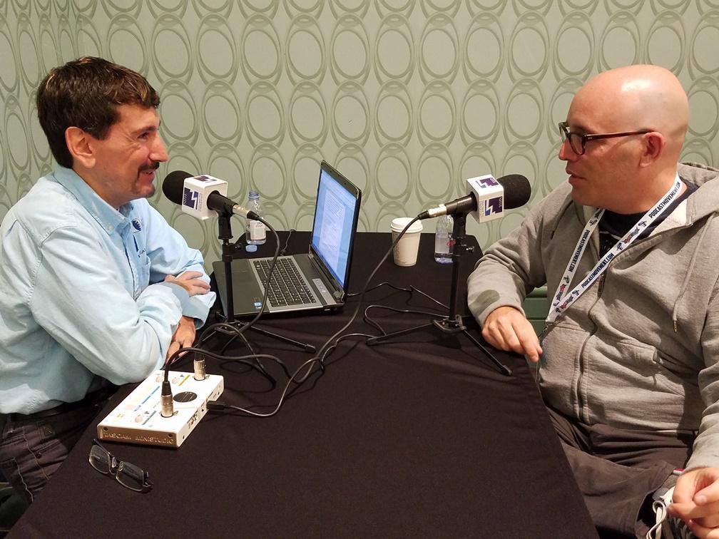 Bruce Wawrzyniak uses the Tascam MiNiSTUDIO Creator to Interview Mark McConville on location in Anaheim