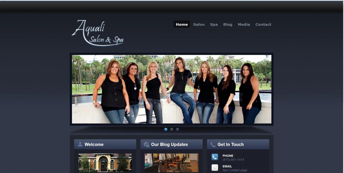 Salon website preview