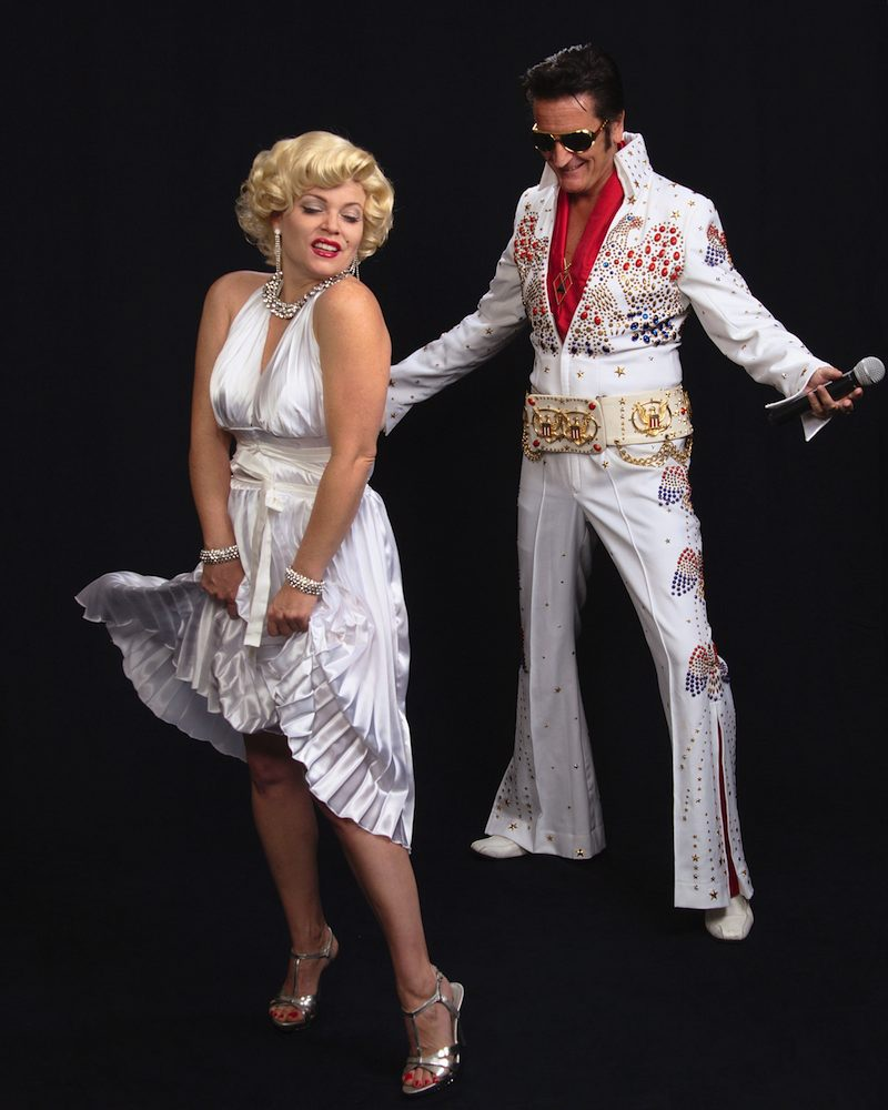 Elvis and Marilyn act