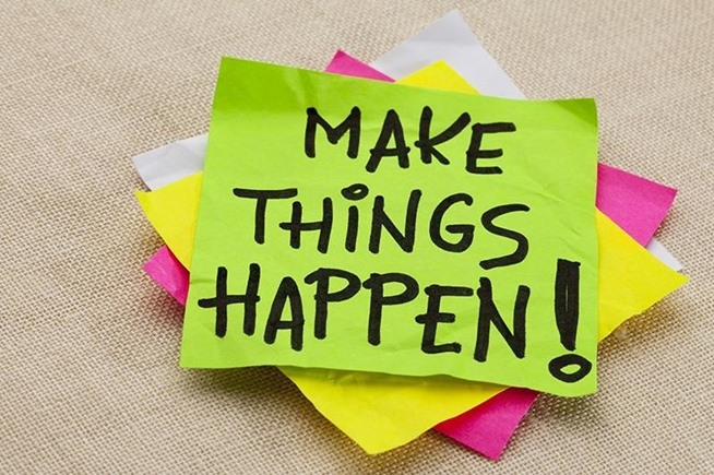 Make Things Happen Post-It Note