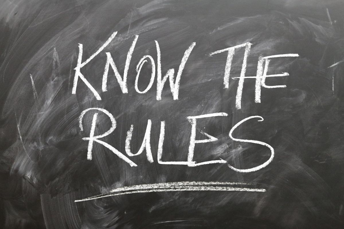Know The Rules written on blackboard