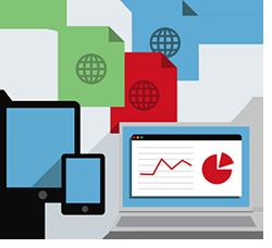 Web analytics graphic